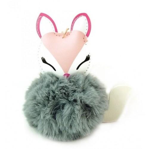 Adam toys, Kľúčenka s šedou brmbolcami - liska,