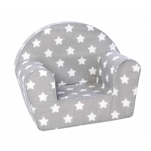 Delsit Detské kresielko, pohovka - Baby Star, šedé