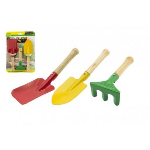 Náradie záhradnícke pre deti drevo kov 3ks