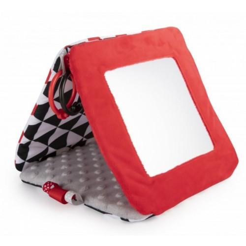 Veľké kontrastné zrkadlo Canpol Babies - čierna, biela, červená