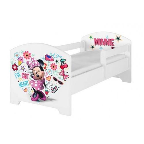 Babyboo Detská posteľ s penovým matracom Disney 140 x 70 cm - Minnie Music - 140x70