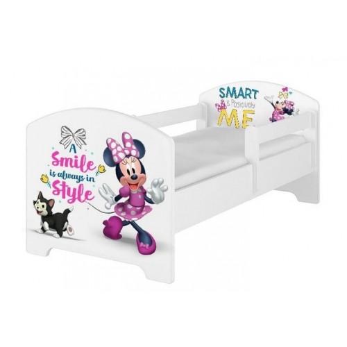 Babyboo Detská posteľ s penovým matracom Disney 140 x 70 cm - Minnie Smart - 140x70