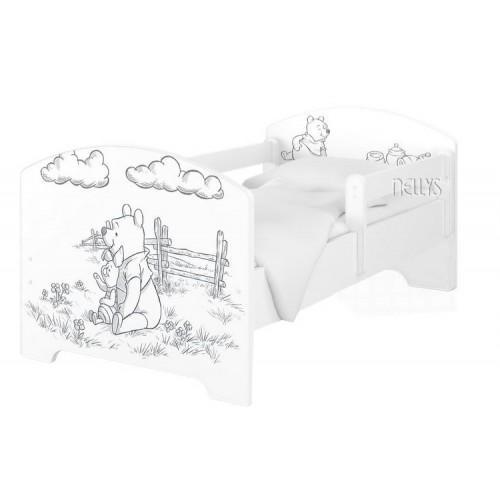 Babyboo Detská posteľ 140 x 70 cm Disney - Medvídek PÚ - 140x70