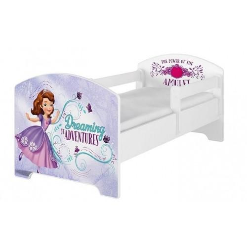Babyboo Detská posteľ 140 x 70 cm Disney -  Sofie, biela - 140x70