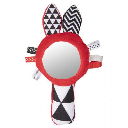 Canpol Babies Zábavná kontrastný pískacia hračka so zrkadielkom