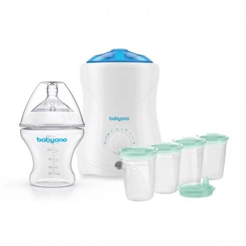 BabyOno - zvýhodnená zostava - ohrievač vrátane sterilizace, antikoliková fľašu a nádobky