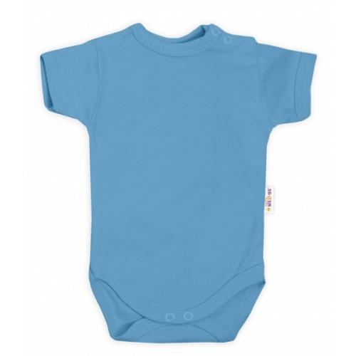 Baby Nellys Bavlnené body kr. rukáv - sv. modrá, veľ. 68 - 68 (4-6m)