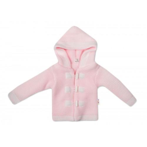 Baby Nellys Dvojvrstvová dojčenská bundička, svetrík - ružový, veľ. 86 - 86 (12-18m)