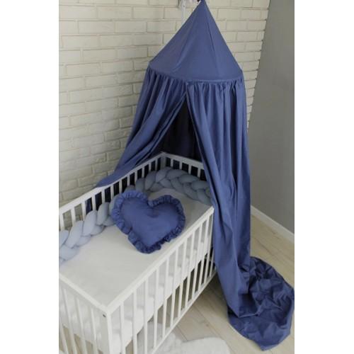 Baby Nellys Nebesá z celej látky - modrá