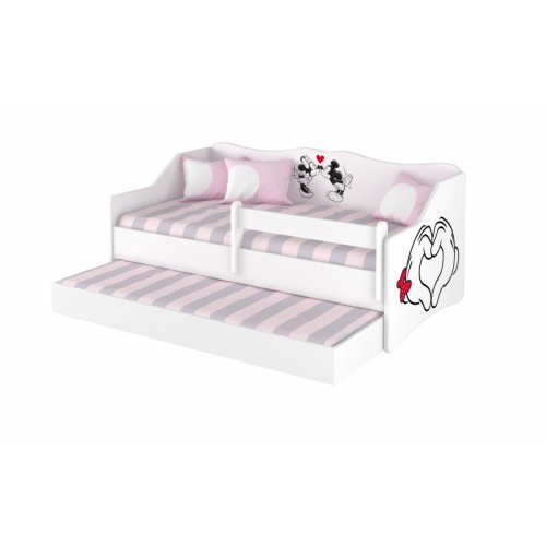 Babyboo Detská posteľ LULU 160 x 80 cm - biela Love - 160x80