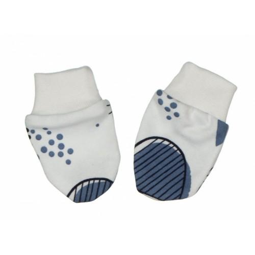 Baby Dojčenské rukavičky ANIMA modrá-biela - 0/3měsíců