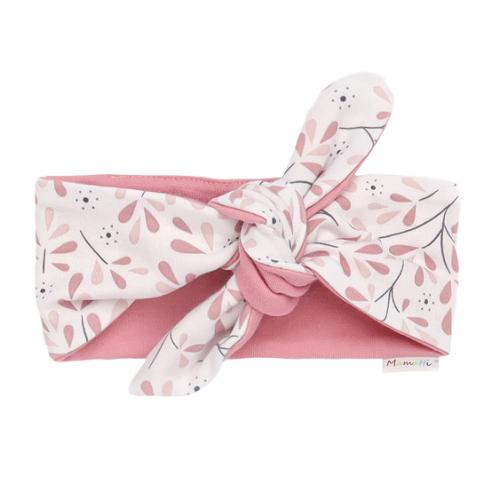 Mamatti Detská čelenka Pin-up Tokio - ružová, biela - univerzální