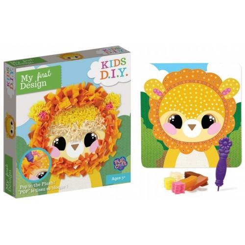 Kreatívne obrázok lev s textilom