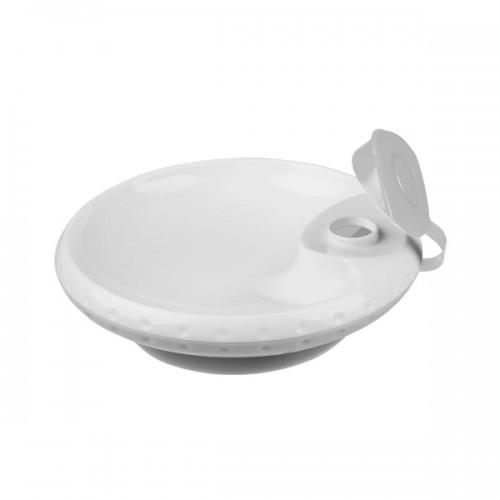BabyOno Ohrievaci tanierik s prísavkou - sivá