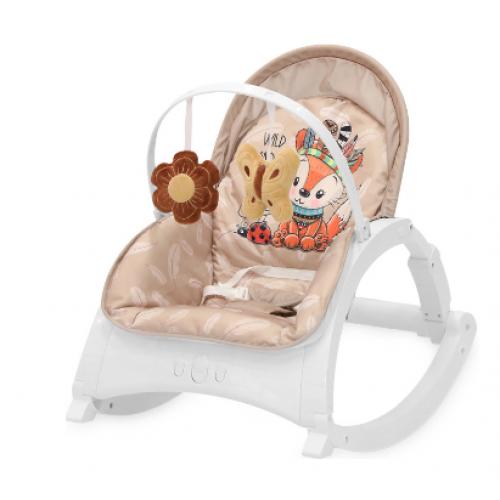 Lorelli Lehátko, hojdačka pre dojčatá Enjoy - Beige Foxy