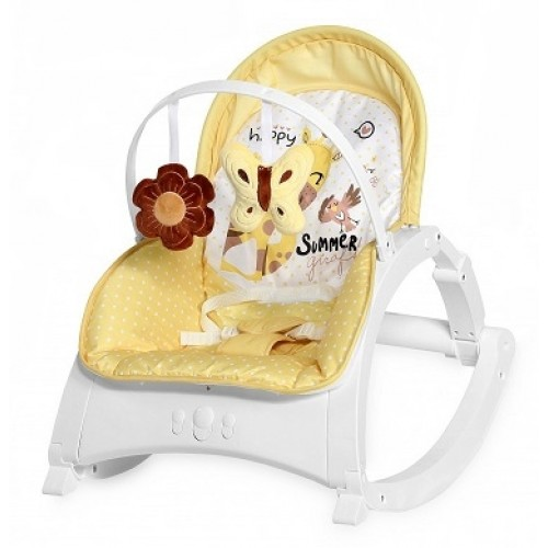 Lorelli Lehátko, hojdačka pre dojčatá Enjoy - Yellow Giraffe