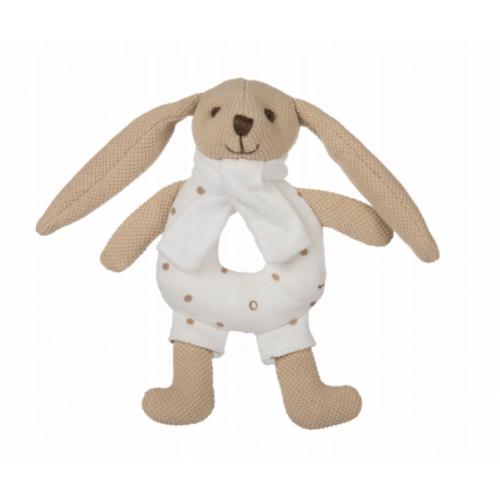 Canpol babies Plyšová hračka s hrkálkou - Zajačik - Smotanový