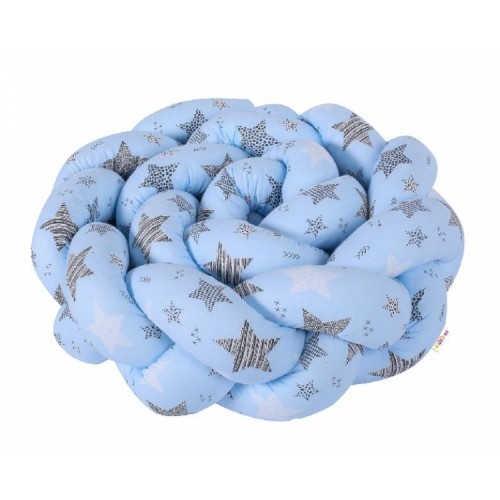 Mantinel Baby Nellys pletený vrkoč STARMIX - modrý