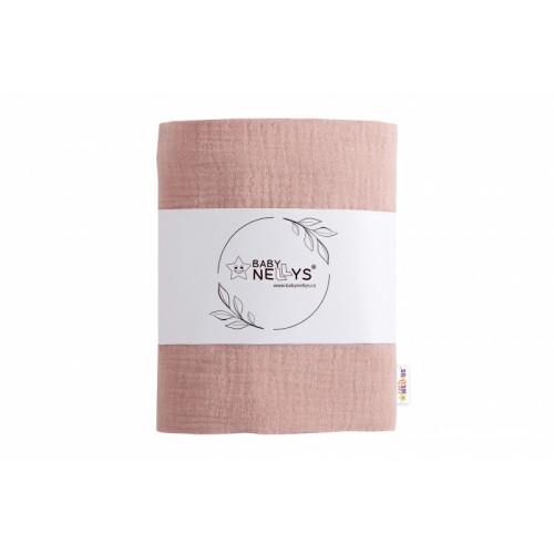 Baby Nellys mušelínová plienka, osuška 65x85cm, staroružová, 1ks