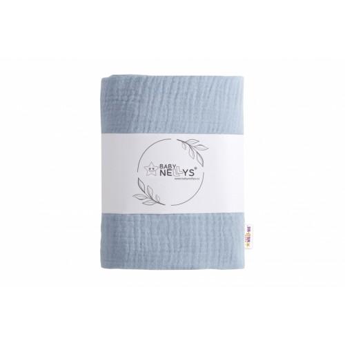 Baby Nellys mušelínová plienka, osuška 65x85cm, světle modrá, 1ks