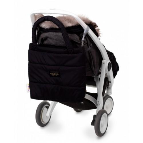 Baby Nellys taška na kočík STYLE, čierná