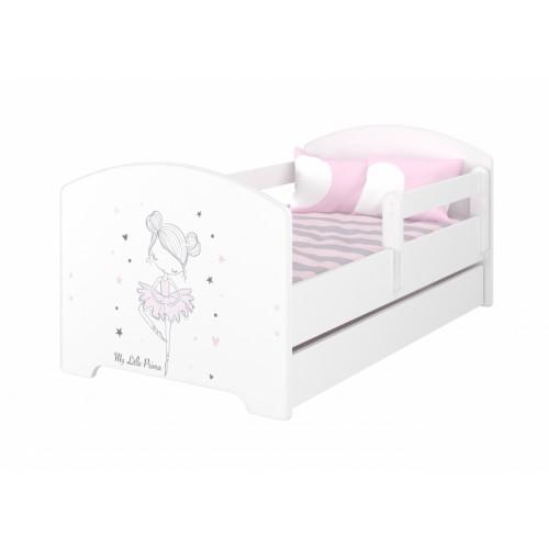Babyboo Detská posteľ 140 x 70 cm - Baletka -  vrátane šuplíku - 140x70