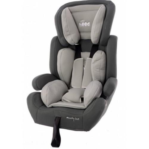 Euro Baby Odľahčená Autosedačka - podsedák 9-36kg - sv.sivá