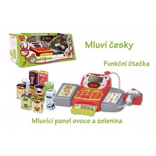 Pokladňa česky hovoriaci dig.plast 36cm s doplnkami na batérie so zvukom so svetlom
