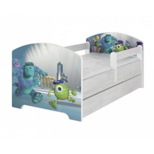 Babyboo Detská posteľ 140 x 70 cm - Monsters - 140x70