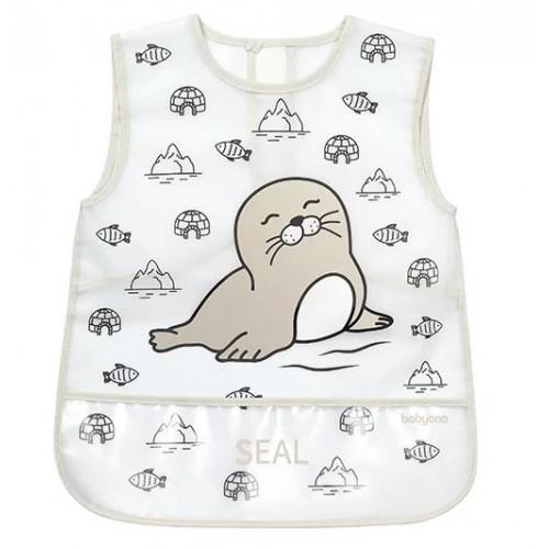 BabyOno Detská zásterka ACTIVE BABY - Seal
