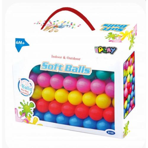 iPLAY Náhradné balóniky do bazéna - 100ks, mix