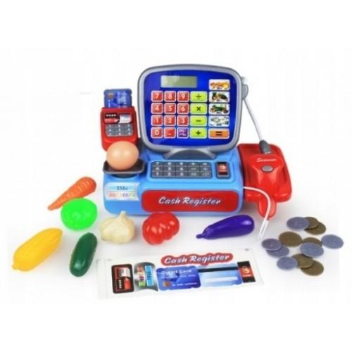 Eco Toys Detská pokladňa elektronická so skenerom a doplnky