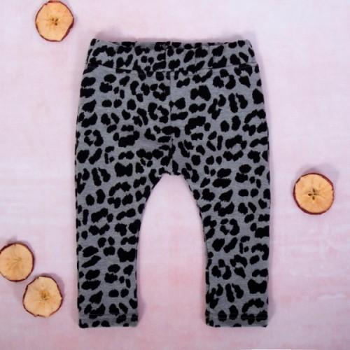 K-Baby Dievčenské legíny Gepardík, šedo-čierna - 62 (2-3m)