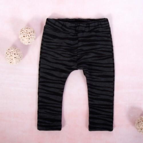 K-Baby Dievčenské legíny Tigrík, grafit-čierna - 62 (2-3m)