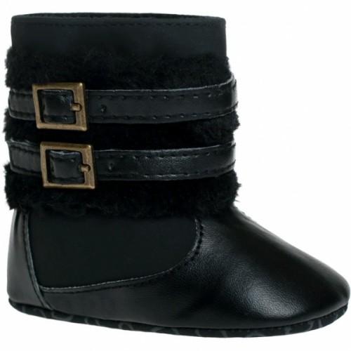 Zimný Topánočky BOBO BABY so sponou - čierne - 62-68 (3-6m)