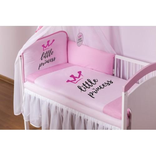 Baby Nellys Bavlnené obliečky Little Princess - růžové - 120x90