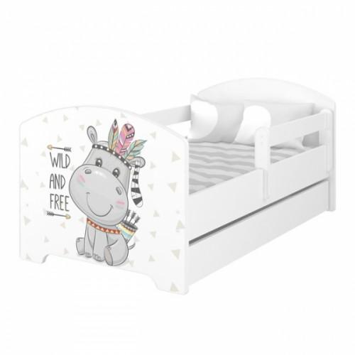 Babyboo Detská posteľ 140 x 70 cm - Hippo - 140x70