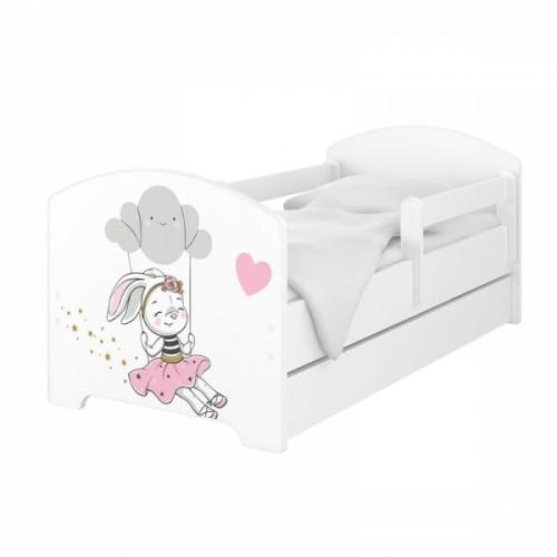 Babyboo Detská posteľ 140 x 70 cm - Rabbit - 140x70