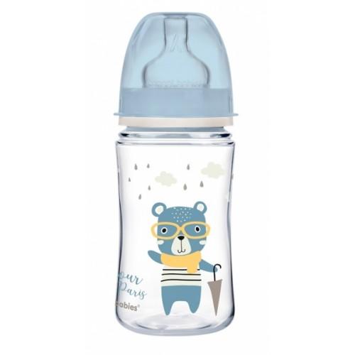 Antikoliková fľaštička Canpol Babies Easy Štart - Bonjour, 240 ml