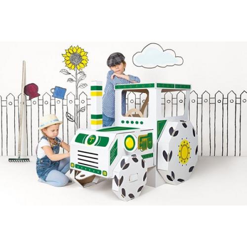 Detský kartónový traktor Tektorado