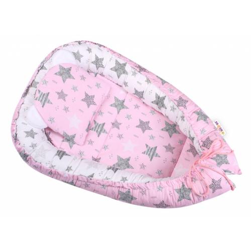 Baby Nellys Sada komplet, obojstranné hniezdočko 50 x 80 cm, STARMIX, ružová