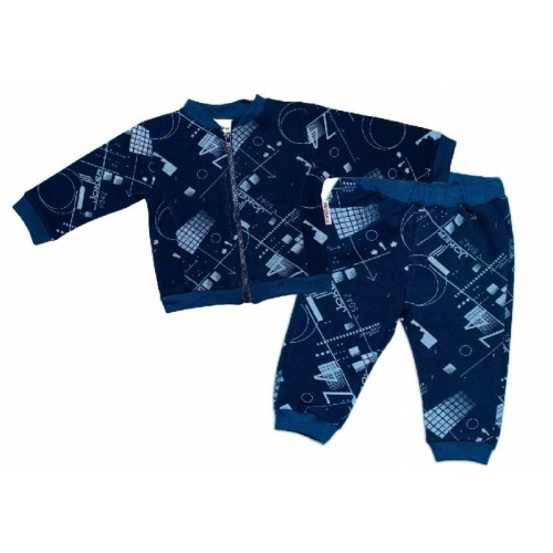 BABY NELLYS Tepláková súprava COOL, modrá - 62 (2-3m)