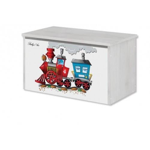 Babyboo Box na hračky s motívom Vláčik