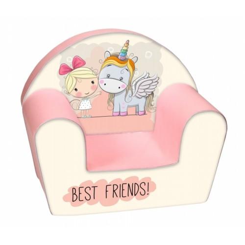 Delsit Detské kresielko, pohovka - Best Friends Girl and Ponny