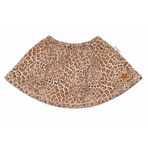 BABY NELLYS Dětská sukne Gepard - hnedá, veľ. 92 - 92 (18-24m)