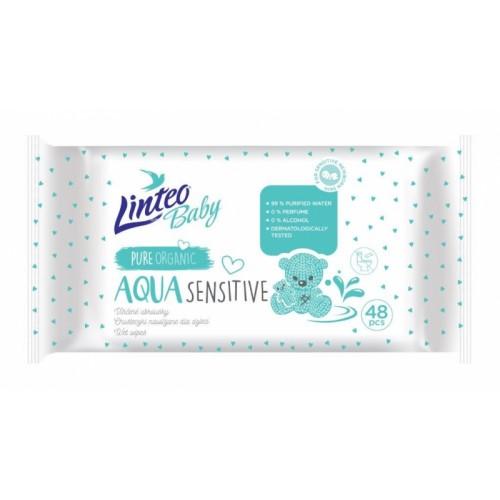 Vlhčené obrúsky LINTEO BABY Aqua sensitive, 48 ks v balení