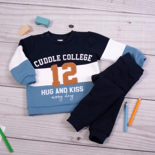 K-Baby Tepláková súprava College - granát/modrá - 68 (4-6m)
