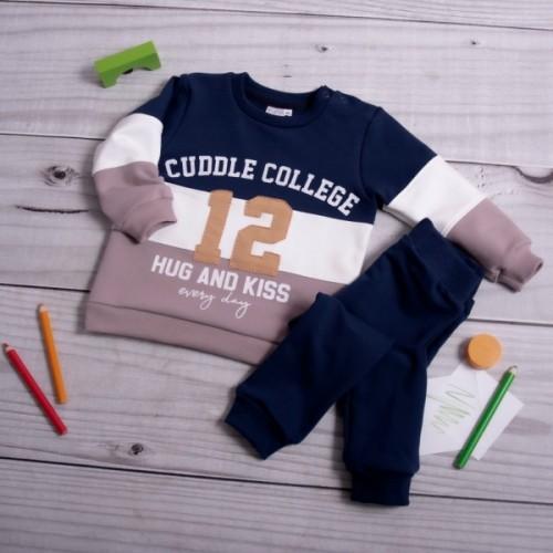 K-Baby Tepláková súprava College - granát/cappuccino, veľ. 80 - 80 (9-12m)