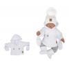 Z & Z Zimná prešívaná bundička s kapucňou + rukavičky - biela, veľ. 68 - 68 (4-6m)