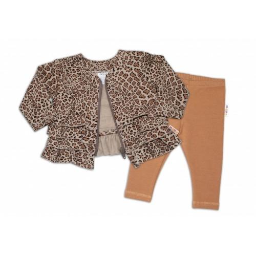 BABY NELLYS Tepláková súprava Gepard, 2 dielna, hnedá, veľ. 74 - 74 (6-9m)